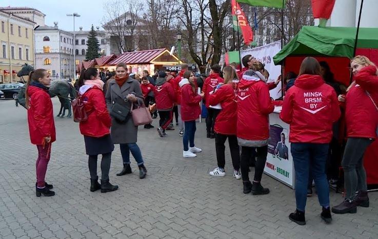 в Минске прошли массовые предвыборные пикеты