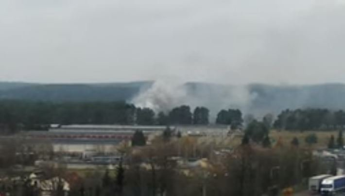 В Гродно произошел пожар в парке боевых машин