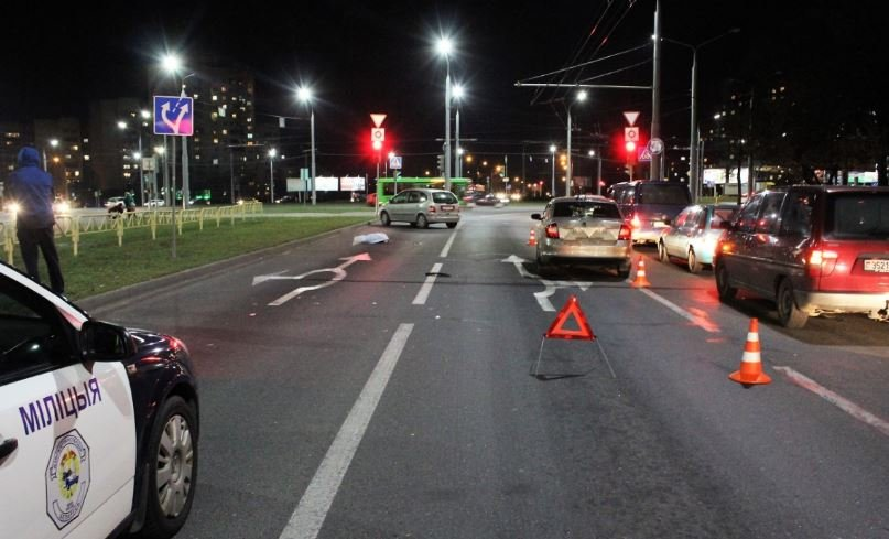 Автомобиль такси насмерть сбил женщину в Гродно