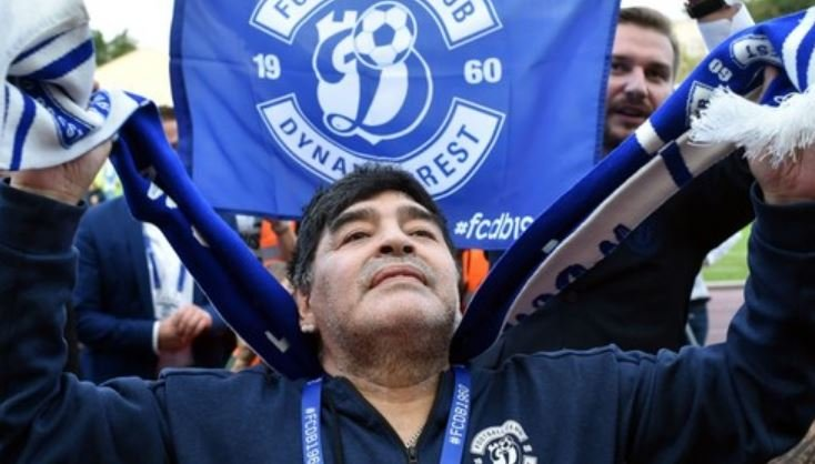 Марадона поздравил брестское «Динамо» с победой в чемпионате Беларуси