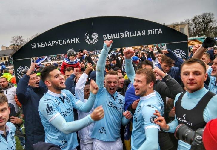 Чемпионом Беларуси впервые стало брестское «Динамо»