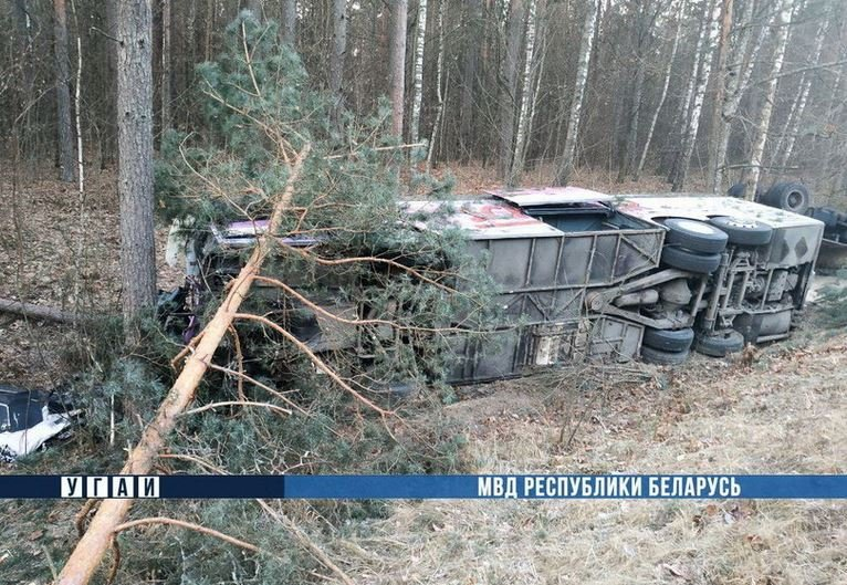 После ДТП в Речицком районе госпитализированы шесть человек