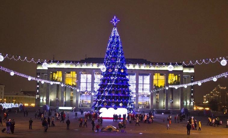 Новогодние гуляния пройдут в Минске на 24 площадках