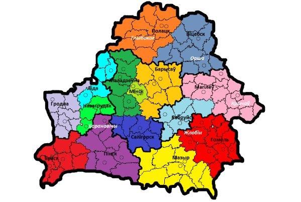 Границы трех областей изменились в Беларуси