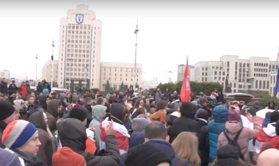 В Минске прошли протесты против интеграции с Россией