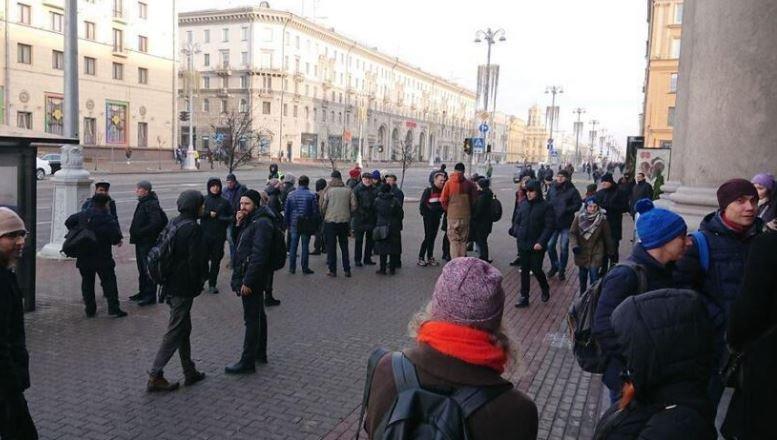 В Минске проходит акция против интеграции с Россией