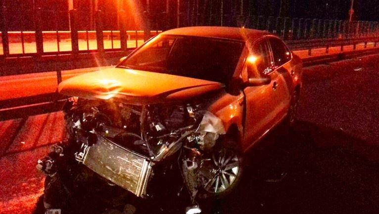 Пьяный водитель совершил ДТП на МКАД
