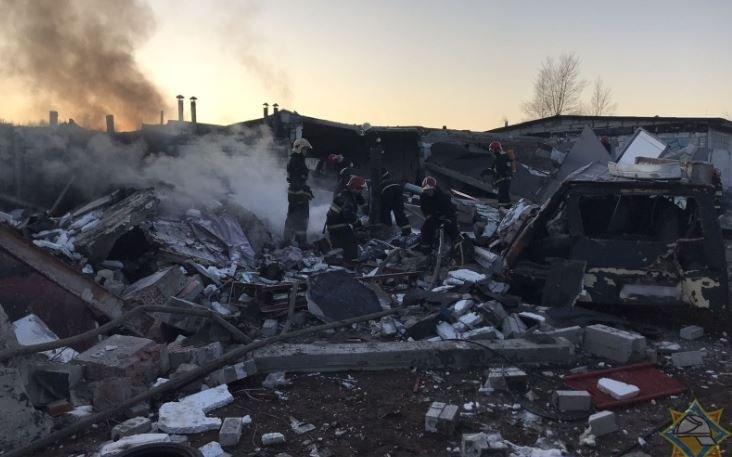 В Бресте произошел взрыв в гаражном кооперативе