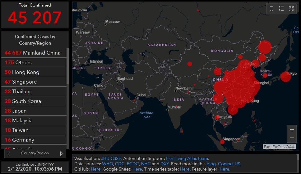 китай, последние новости, карта коронавируса, страны, заболевшие, февраль, 2020