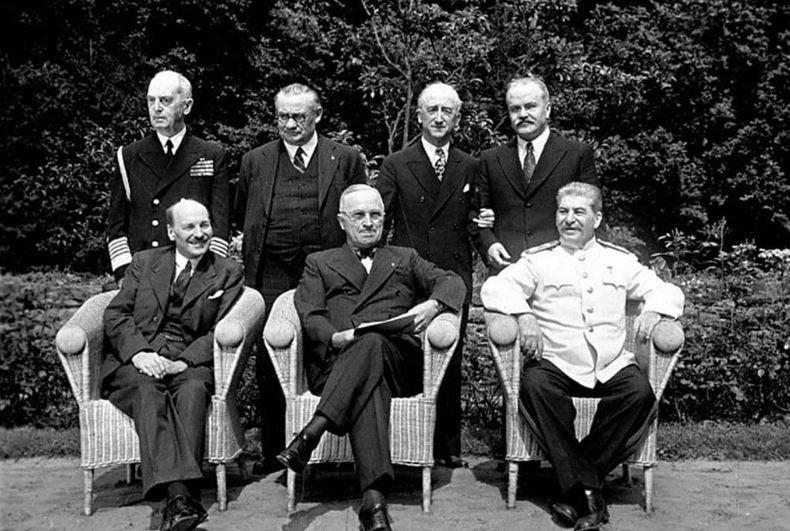 Конференция в Потсдаме 17 июля - 20 августа 1945 года, сталин, черчиль, рузвельт