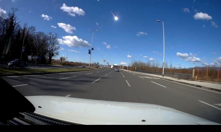 Метеорит взорвался в небе над Хорватией, 28 февраля 2020