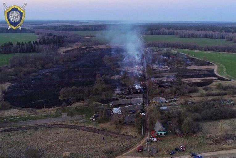 В Щучинском районе сгорела целая деревня