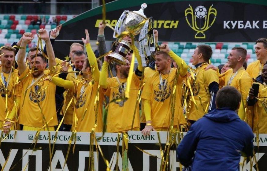 Футболисты БАТЭ отпраздновали победу в Кубке Беларуси