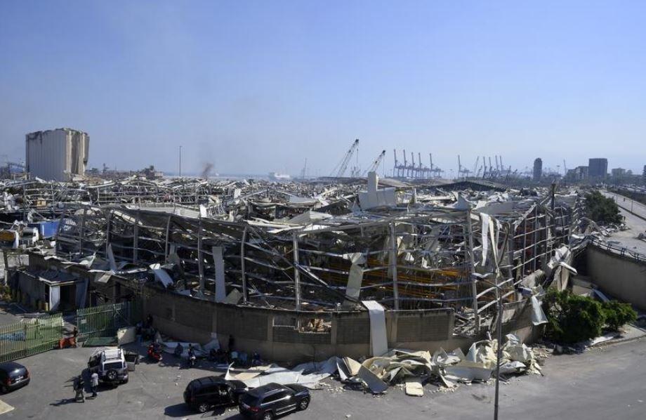 Последствия взрыва в Бейруте показали из космоса