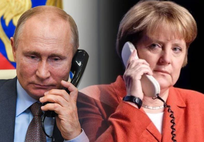 Путин и Меркель обсудили ситуацию в Беларуси
