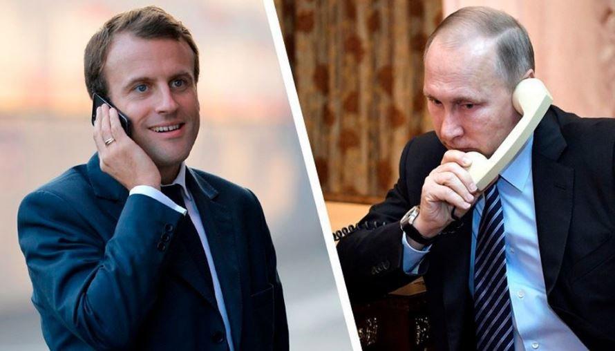 Путин и Макрон обсудили ситуацию в Беларуси