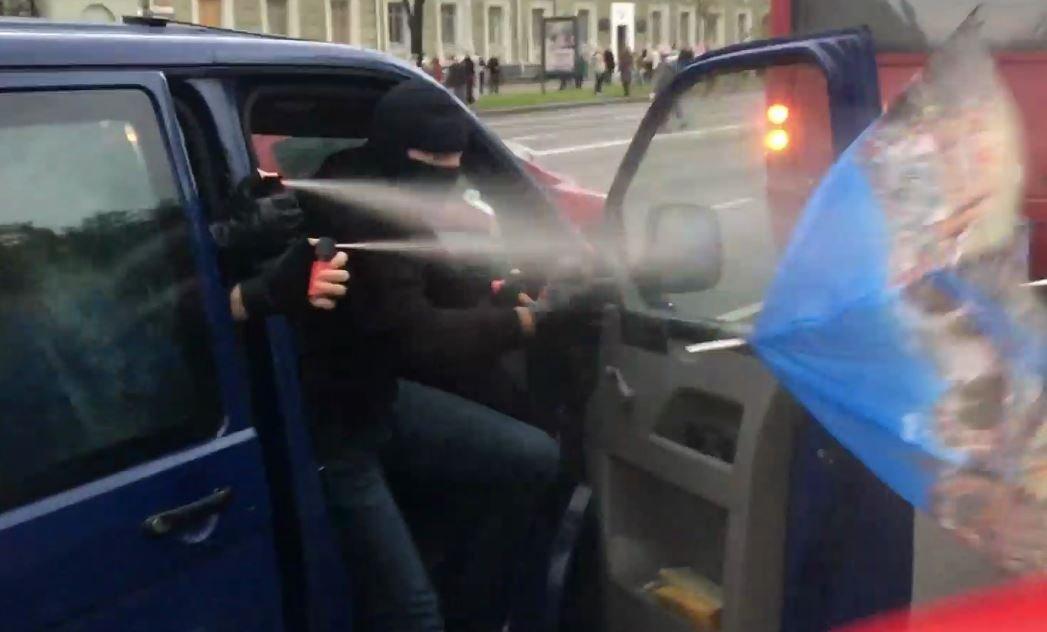 Против протестующих в Минске применили слезоточивый газ