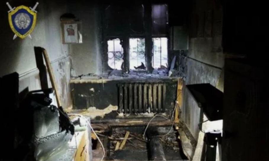 КГБ признал поджог здания ГАИ в Мозыре актом терроризма