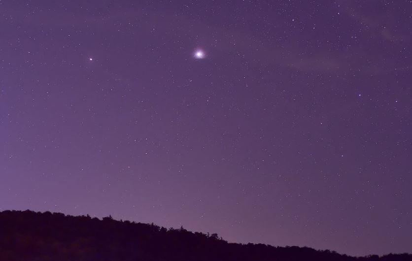 21 декабря белорусы смогут увидеть великое соединение Юпитера и Сатурна