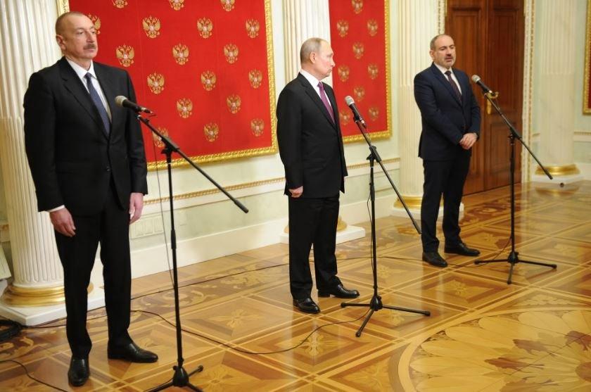 Путин, Алиев и Пашинян подписали новое заявление по Карабаху в Москве