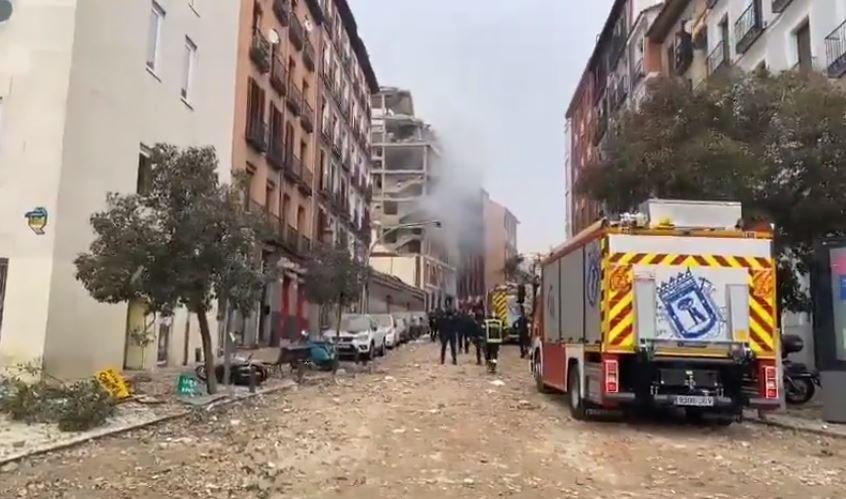 СМИ сообщили о мощном взрыве в центре Мадрида