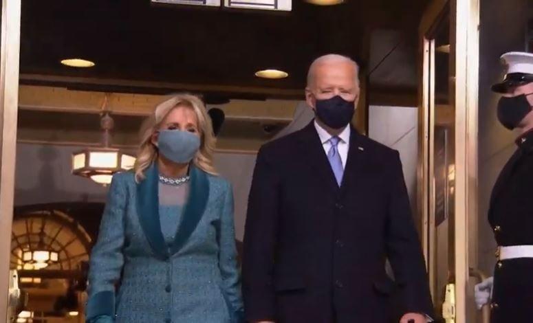 Джо Байден прибыл в Капитолий на церемонию инаугурации