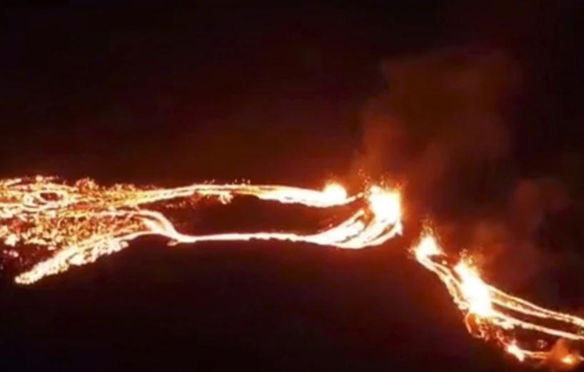 В Исландии началось извержение спавшего шесть тысяч лет вулкана Фаградальсфьядль