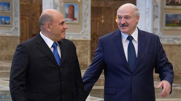 На встрече с Лукашенко Мишустин поднял вопрос об интеграции налоговых систем РФ и Беларуси