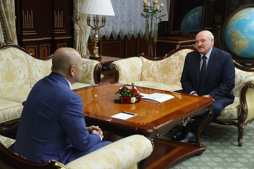 Лукашенко проводит встречу с народным депутатом Верховной рады Украины Евгением Шевченко
