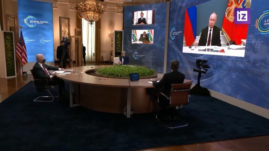 Выступление Макрона на саммите по климату было прервано речью Путина