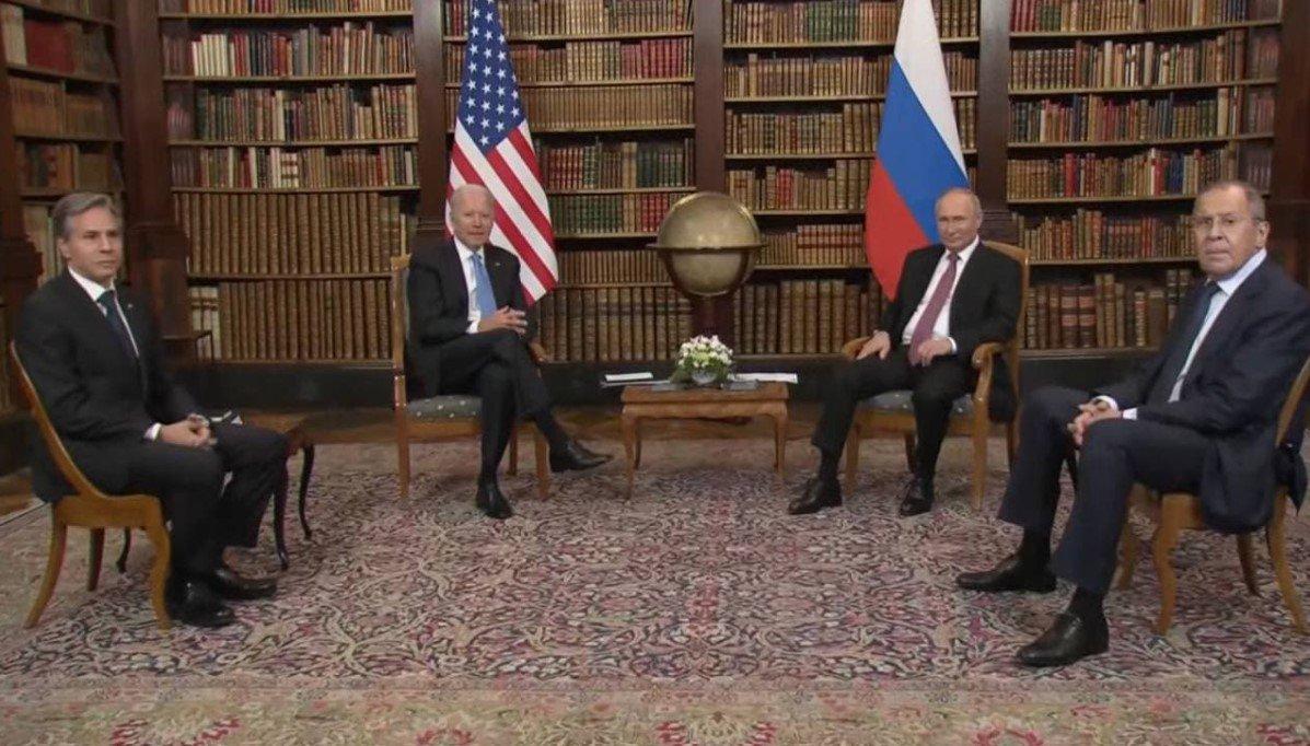 Байден и Путин начали переговоры в узком составе в Женеве