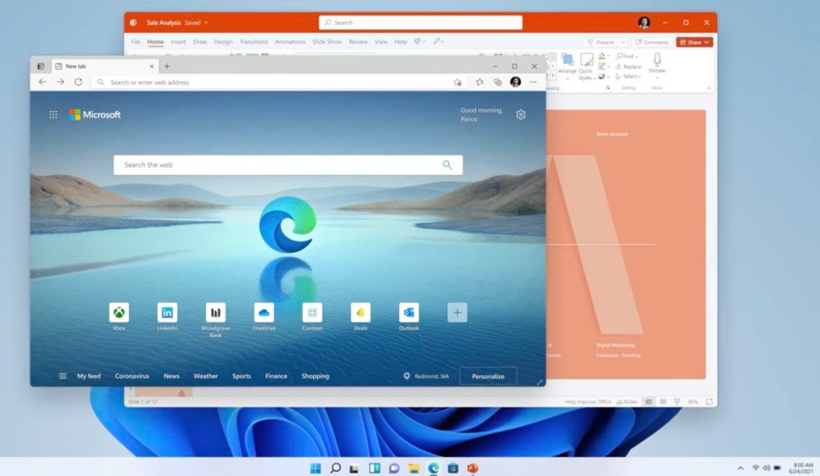 Microsoft представила операционную систему Windows 11