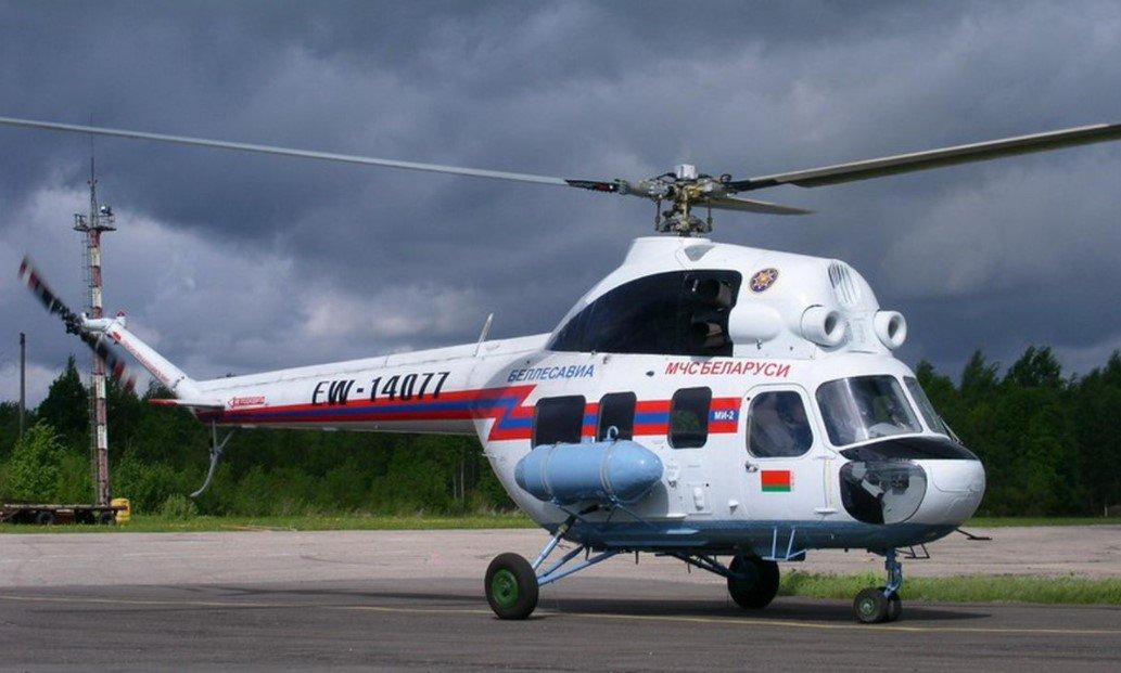 В Брестской области аварийно приземлился вертолет МЧС Беларуси