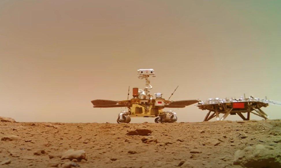 Китайское национальное космическое управление опубликовало новое видео с Марса