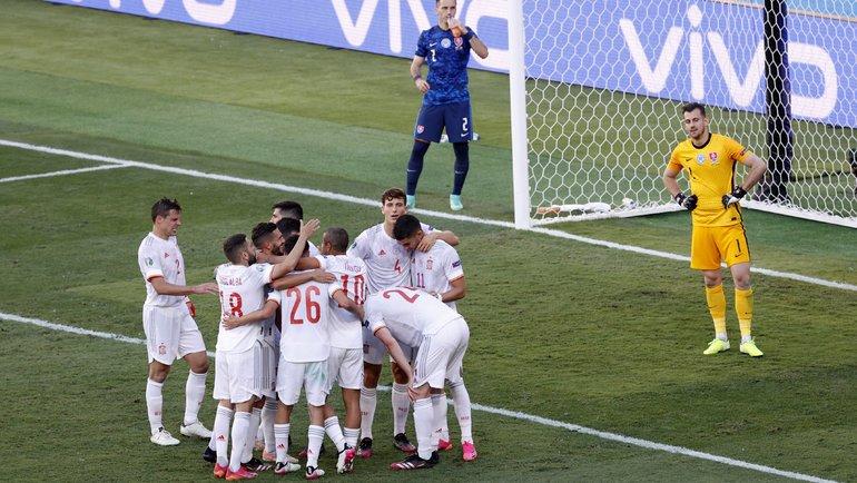 Сборная Испании обыграла Хорватию и вышла в четвертьфинал Евро-2020