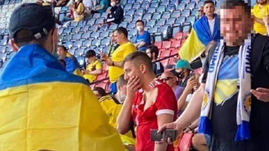 Фанаты сборной Украины напали на болельщика в майке сборной России на матче Евро-2020