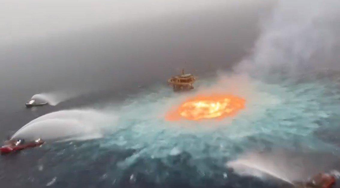 В Мексиканском заливе произошел пожар на подводном трубопроводе