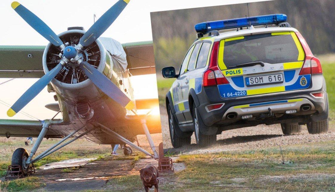 В Швеции разбился самолет c девятью пассажирами