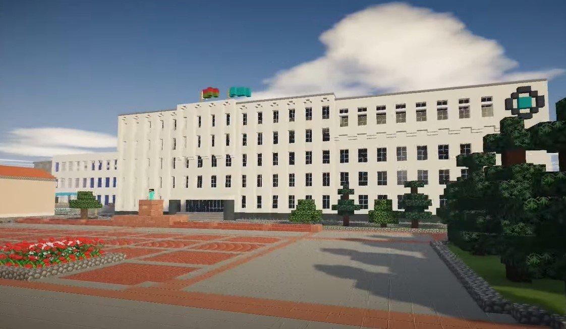 Школьник смоделировал город Гродно в компьютерной игре Minecraft
