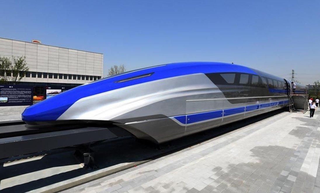 В Китае создали поезд на магнитной подушке, развивающий скорость 600 км/ч