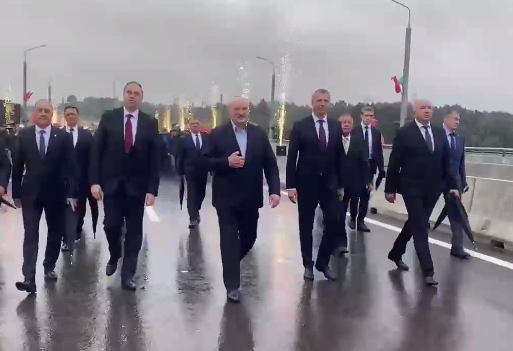 Лукашенко принял участие в открытии Восточного моста в Гродно